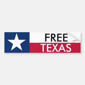 Pare-chocs libre Sticket du Texas Autocollant De Voiture