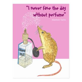 Parfüm -- wesentlich während eines guten Tages! Postkarte