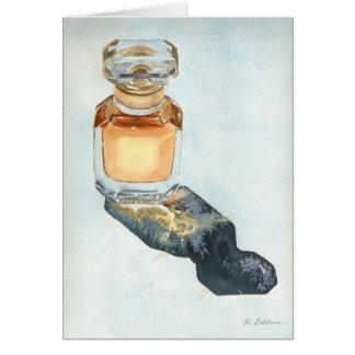 Parfümflaschekarte Grußkarte