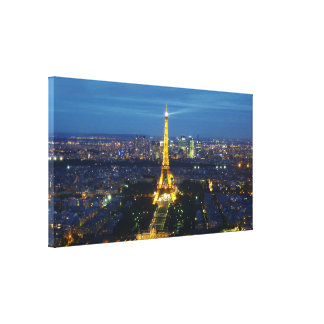 Paris à la toile aérienne d'impression de panorama toile tendue sur châssis
