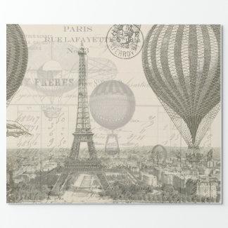 Paris-Ballon-Reise Geschenkpapier