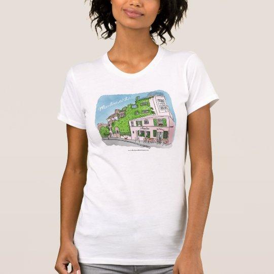 Paris-Café Montmartre Kitty-Katzen-T - Shirt