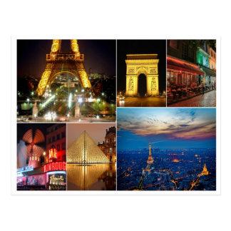 Paris-Collagenfrankreich-Stadtreise-Stadtbild Postkarte