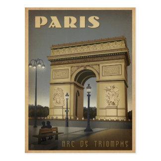 Paris - der Arc de Triomphe Postkarte