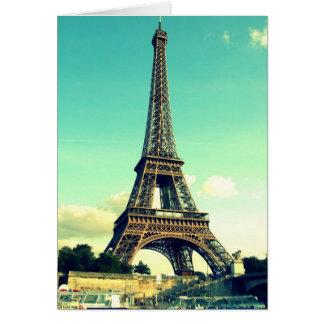 Paris/Eiffelturm Notecard (freier Raum) Mitteilungskarte