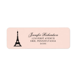 Paris-Eleganz errötet Rosa mit Eiffelturm