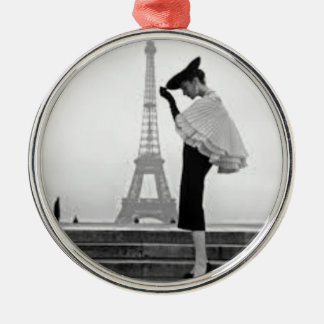 Paris Fashion Silbernes Ornament