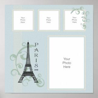 Paris-Ferien-Einklebebuch-Seite Poster