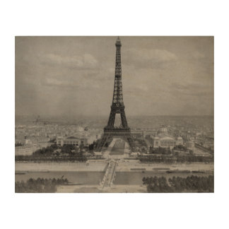 Paris, Frankreich: Ansicht des Eiffelturms Holzleinwand