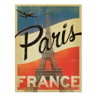 Paris, Frankreich - Flagge Postkarte