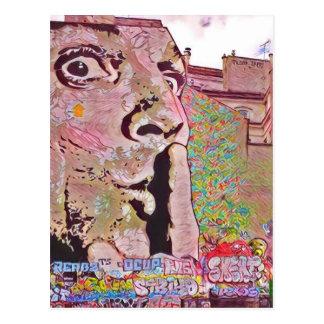 Paris-Graffiti Pomipidou Museum Postkarte