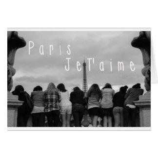 Paris, i-Liebe Sie Grußkarte