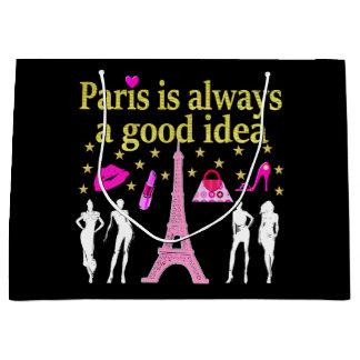 PARIS IST IMMER EINE GUTE IDEE GROßE GESCHENKTÜTE