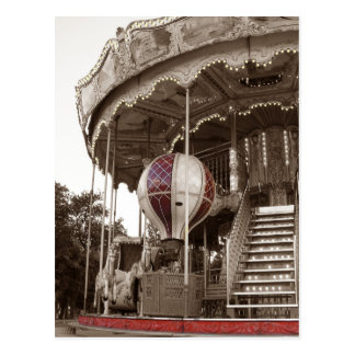 Paris-Karussell Postkarte