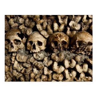 Paris-Katakomben-Schädel-und Knochen-Postkarte Postkarte