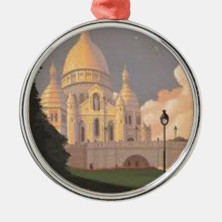 Paris Montmartre Vintage Silbernes Ornament