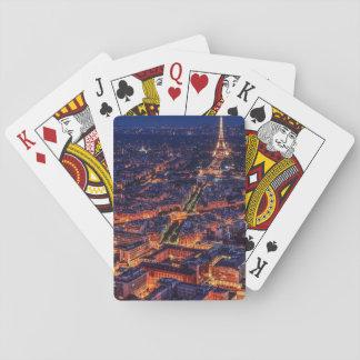Paris nachts spielkarten