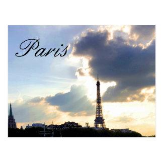 Paris-Postkarte, die den Eiffelturm kennzeichnet Postkarte