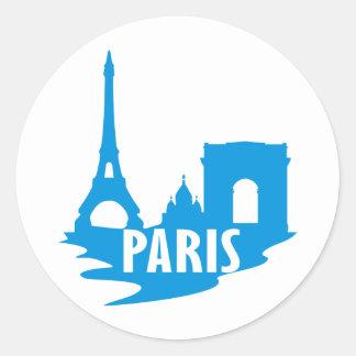 Paris Runder Aufkleber