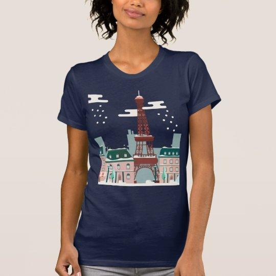 Paris-Schneien T-Shirt