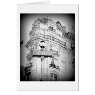 Paris, Schwarzweiss, freier Raum Karte