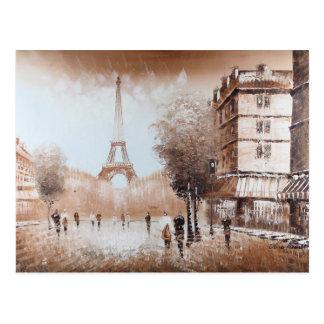 Paris-Straßen-Postkarte Postkarte