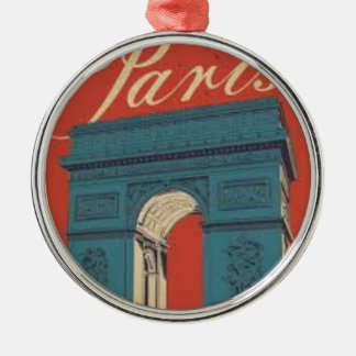 Paris Triumphbogen Silbernes Ornament