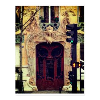 Paris-Tür-Postkarte Postkarte