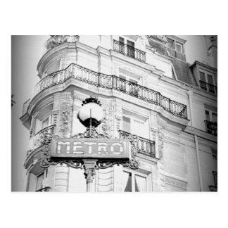 Paris, Vintage Ansicht-Schwarzweiss-Postkarte Postkarte