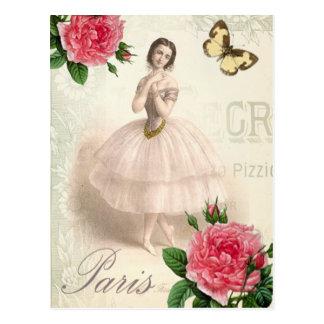 Pariser Ballerina Postkarte