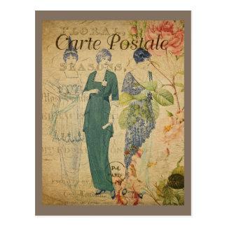 Pariser Vintage Damen Postkarte