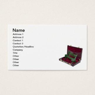 Park-Bank im Aktenkoffer Visitenkarte