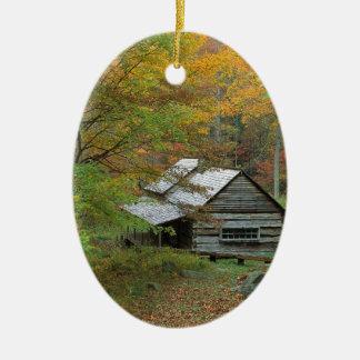 Park-Gehöft-Kabine Ains Tennessee Ovales Keramik Ornament