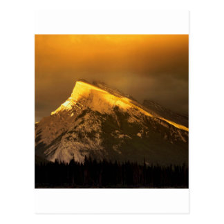 Park-goldene Spitzen von Rundle Ain Banff Alberta Postkarte