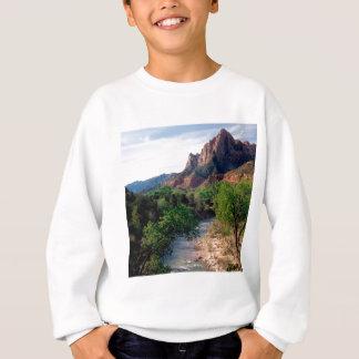 Park-Jungfrau-Fluss der Wächter Zion Utah Sweatshirt