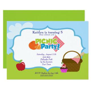 Park-Picknick-Party Karte