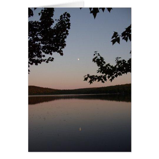 Park-Teich Moonrise notecard Grußkarte