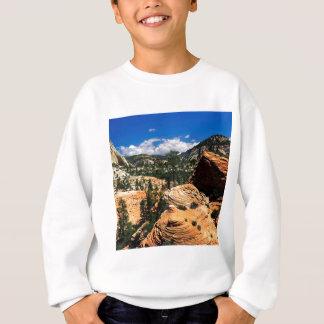 Park-wirbelnde Sandstein-Bildungen Zion Utah Sweatshirt