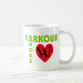 Parkour Amore mit Herzen Kaffeetasse