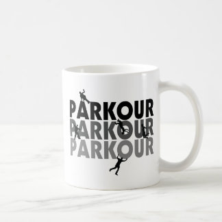 Parkour freier Betrieb Kaffeetasse