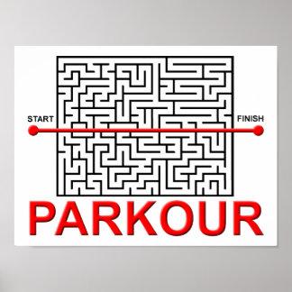 Parkour Labyrinth-lustiges Plakat