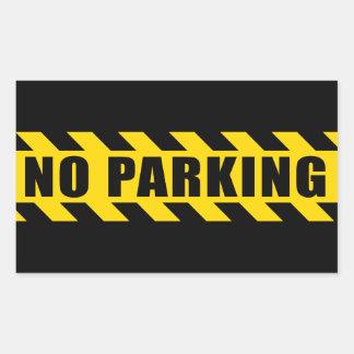 Parkverbot-Polizei riskiert Band-schwarze gelbe Rechteckiger Aufkleber