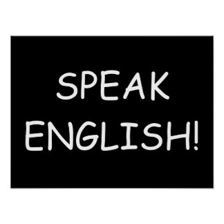 Parlez anglais ! poster