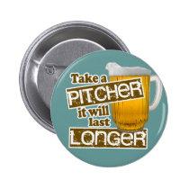 Parodie potable de bière drôle badge