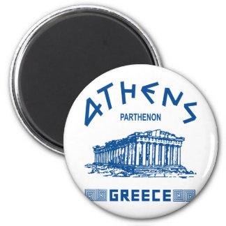 Parthenon - Athènes - Grec (bleu) Magnets Pour Réfrigérateur