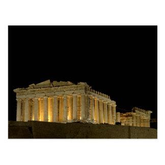 Parthenon durch Nachtpostkarte Postkarte