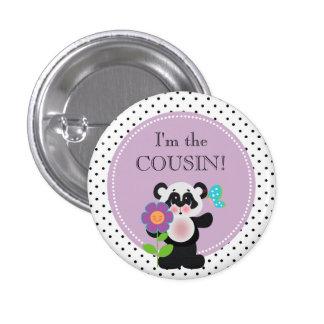 Partie de baby shower d'ours panda je suis le badge rond 2,50 cm