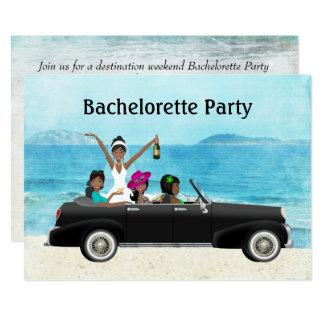 Partie de Bachelorette de mariage de plage de Carton D'invitation 12,7 Cm X 17,78 Cm