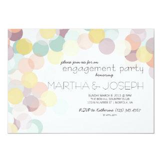 Partie de fiançailles dispersée de ressort de carton d'invitation  12,7 cm x 17,78 cm