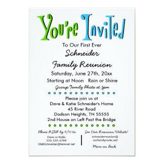 Partie de la Réunion de famille d'amusement ou Carton D'invitation 12,7 Cm X 17,78 Cm